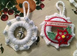 oliva s creative quest white crochet wreath ornaments