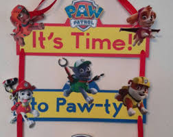 Paw Patrol Room Decor Paw Patrol Door Sign Etsy