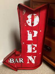 Open Light Up Sign Rustic Light Up Liquor Bar Open Arrow Sign With Led Lights U2013 Home