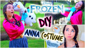 diy frozen anna halloween costume easy u0026 affordable youtube