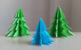 3d paper christmas tree how to make a 3d paper xmas tree diy