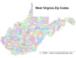 Zip Code Map Indiana by West Virginia Map