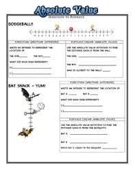 absolute value worksheets worksheets