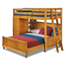 Colorworks Loft Bed With Full Bed Honey Pine Value City Furniture - Value city furniture mattress