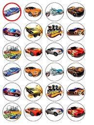 hot wheels cake toppers 24 hot wheels cars edible wafer paper cup cake toppers