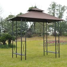 bbq tent outsunny outsunny bbq tent canopy patio outdoor 2 5 x 1 5m awning