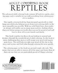 coloring books reptiles realistic coloring book