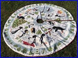 katha diddel needlepoint penguin tree skirt 74 diameter