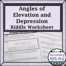 right triangles angles of elevation and depression riddle
