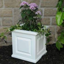 white planters pots u0026 planters the home depot