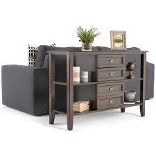 Sofa Tables With Drawers by Simpli Home Console Table The Home Depot