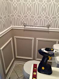 Powder Rooms With Wainscoting Powder Room Update Week 3 Adding Wainscoting Boxes To A Tiny