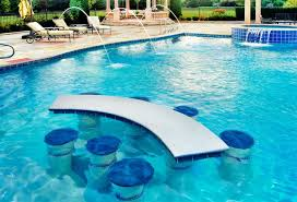 floating table for pool floating pool table swimming pool with built in seats and table pool