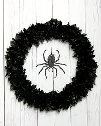 Black Halloween Wreath Spider Wreath From Martha Stewart Crafts