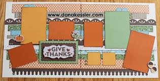 two page fall autumn thanksgiving scrapbook layout pathfinding