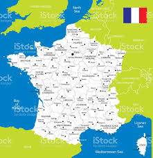 Nantes France Map by Map Of France Stock Vector Art 532376211 Istock