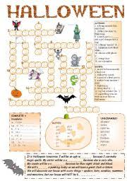 halloween fun pumpkin crossword 8 activities bw cw