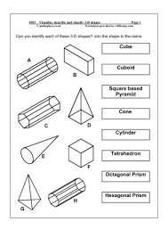 11 best images of 3d shape nets worksheet classifying 3d shapes