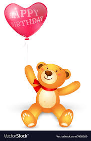 balloons and teddy bears teddy with in heart shape balloons vector image