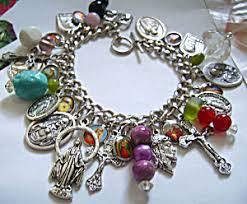 religious charms religious charm bracelet saints st jude pio joseph