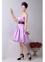 exquisite strapless lavender short junior bridesmaid gowns 1st