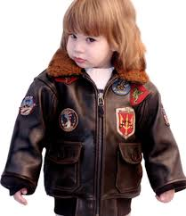 Boys Leather Bomber Jacket Official Top Gun Kids Leather Jacket Top Gun Kids