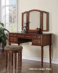 Oak Vanity Table Dark Oak Extra Large Wooden Vanity Set W Mirror U0026 Stool