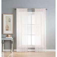 Extra Wide Curtain Rods White Rod Pocket Sheer Curtains U0026 Drapes Window Treatments