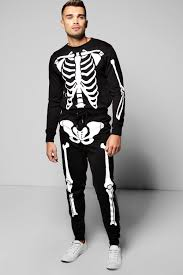 Halloween Skeleton Bodysuit Halloween Skeleton Print Tracksuit Boohoo
