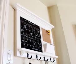 Wall Organizer For Office Kitchen Office Mail Family Organizer With Black Dry Erase