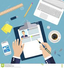 Resume Writing Business Illustration Concept Of Resume Writing Stock Vector Image 72894473