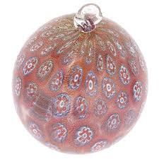 christmas tree ornaments murano glass christmas ornament red