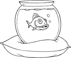 fish tank on a pillow coloring page netart