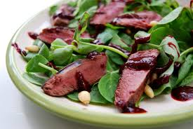 cuisine pigeon wood pigeon salad with raspberry recipe great chefs