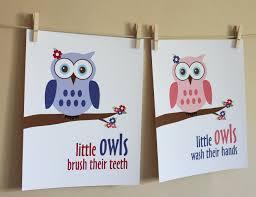 teenage bathroom decor ideas for young boys bathroom trendy little girl owl art prints luulla images new decor design