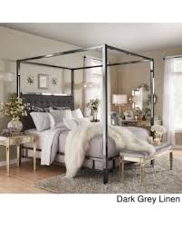 Poster Bed Canopy Get The Deal 10 Off Solivita Black Nickel Metal Queen Size