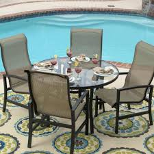 Agio Patio Set Agio Patio Furniture Sling Replacement Hideaway Sling 5 Pc Seating
