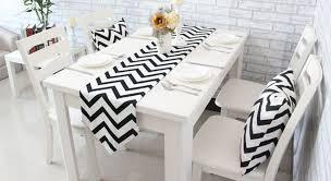 home decor table runner chevron canvas cotton ribbon rustic home decor table runner 4 size