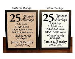25 year wedding anniversary 25 year anniversary etsy
