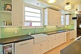 Glass Tile Backsplash Pictures For Kitchen Glass Subway Tile Kitchen Green Glass Tile Backsplash Green Glass