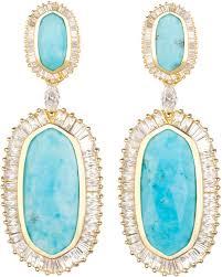 turquoise drop earrings kendra baguette trim oval drop earrings turquoise where to