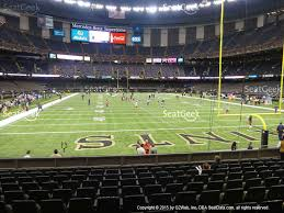 mercedes dome mercedes superdome section 101 seat views seatgeek