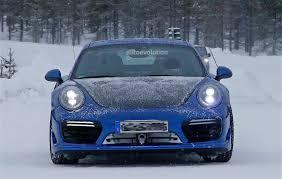 porsche 911 winter spied 2017 porsche 911 gt2 spied in winter testing germancarforum