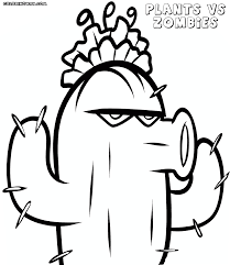 pvz coloring pages