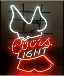 coors light sign amazon new coors light hooters real glass tube handcrafted neon sign beer