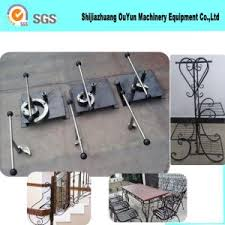 china manual scroll bending machine ornamental iron work tool