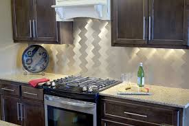 Peel And Stick Kitchen Backsplash Sample Aluminum Mosaic Tile - Glass peel and stick backsplash
