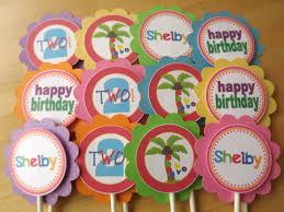 personalized cupcake toppers set of 12 personalized cupcake toppers chicka chicka boom