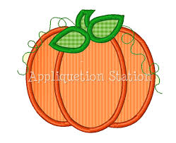 pumpkin fall applique machine embroidery design orange harvest