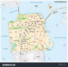 San Francisco On World Map by San Francisco Road Neighborhood Vector Map Stock Vector 510410980